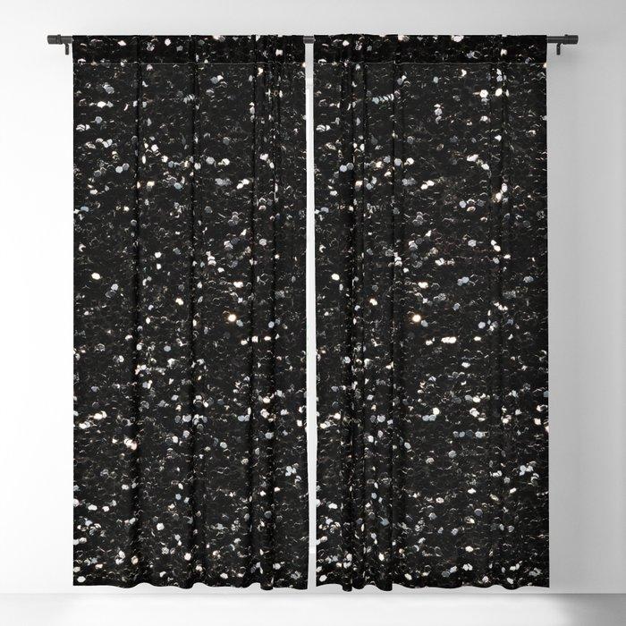 715e30b0f51317 Black and white shiny glitter sparkles Blackout Curtain by pldesign ...