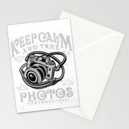 Photographer - Keep Calm And Take Photos Stationery Cards