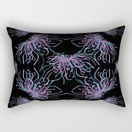 Purple Chrysanthemums Rectangular Pillow