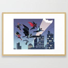 Batfam Forever Framed Art Print