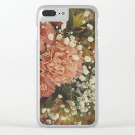 Peach flowers Clear iPhone Case