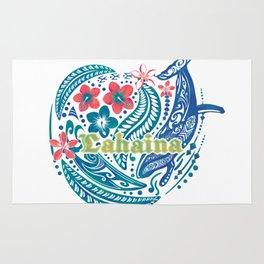 Lahaina Watercolor Whale Rug