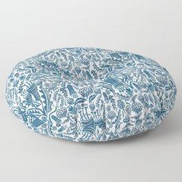 Folk Florals Floor Pillow