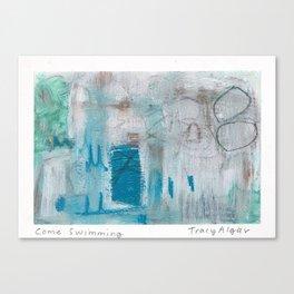 Come Swimming Canvas Print