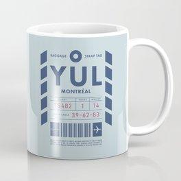 Baggage Tag D - YUL Montreal Canada Coffee Mug