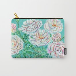 White roses pastel Carry-All Pouch