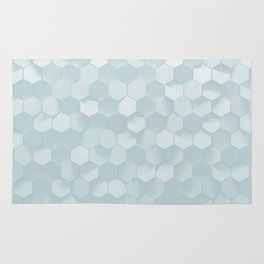 hexagon snow Rug