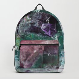 Pink & Green Watermelon Tourmaline Crystal Backpack