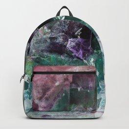 Pink & Green Watermelon Tourmaline Crystal Backpack