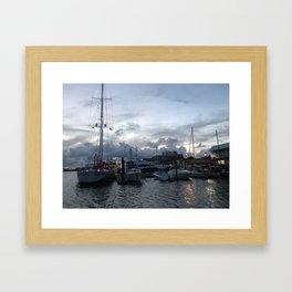 Beaufort NC Water front Framed Art Print