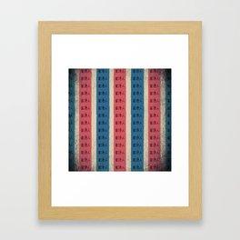 red, white and blue nylon bag Framed Art Print
