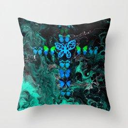 Jade Fire Cross Throw Pillow