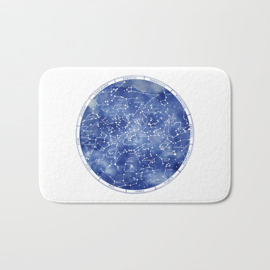 Star Map II Bath Mat