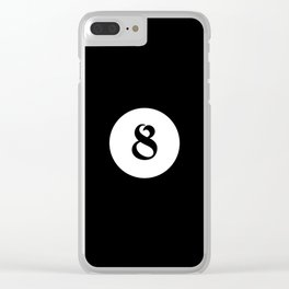 Eight ball pattern Clear iPhone Case