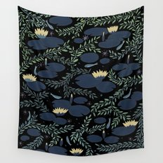 night waterlily Wall Tapestry