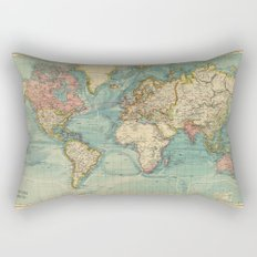 Adventure Awaits (World Map) Rectangular Pillow
