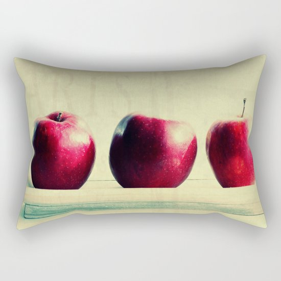 three apples Rectangular Pillow
