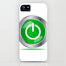 Engine Start Button iPhone Case