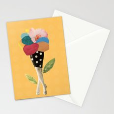 all flowers in time bend towards the sun Stationery Cards