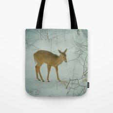 Deer Winter Tote Bag