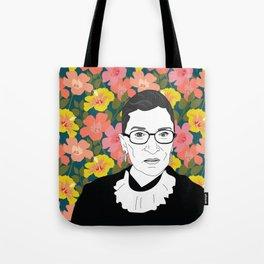 Ruth Bader Ginsburg Floral Umhängetasche