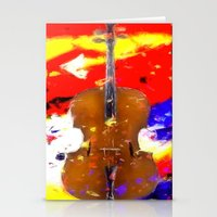 cello Stationery Cards featuring Mellow Cello by Brian Raggatt