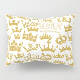 seamless pattern with crown Pillow Sham