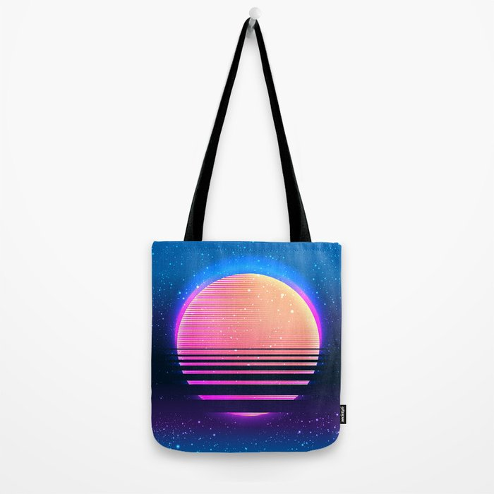 Retro vintage 80s or 90s geometric style abstract art Tote Bag