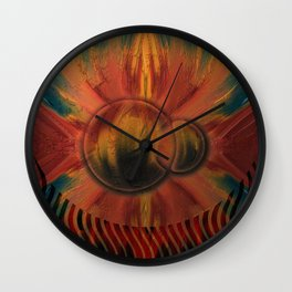 Eclipsed Worlds Wall Clock