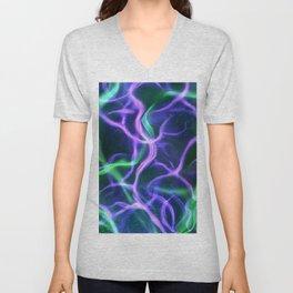 Bright neon light collage Unisex V-Neck