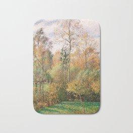 Autumn, Poplars, Eragny Bath Mat