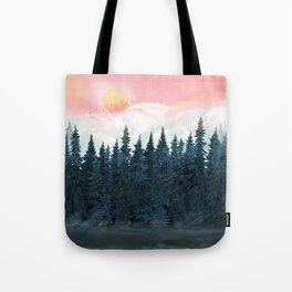 Forest Under the Sunset Tote Bag