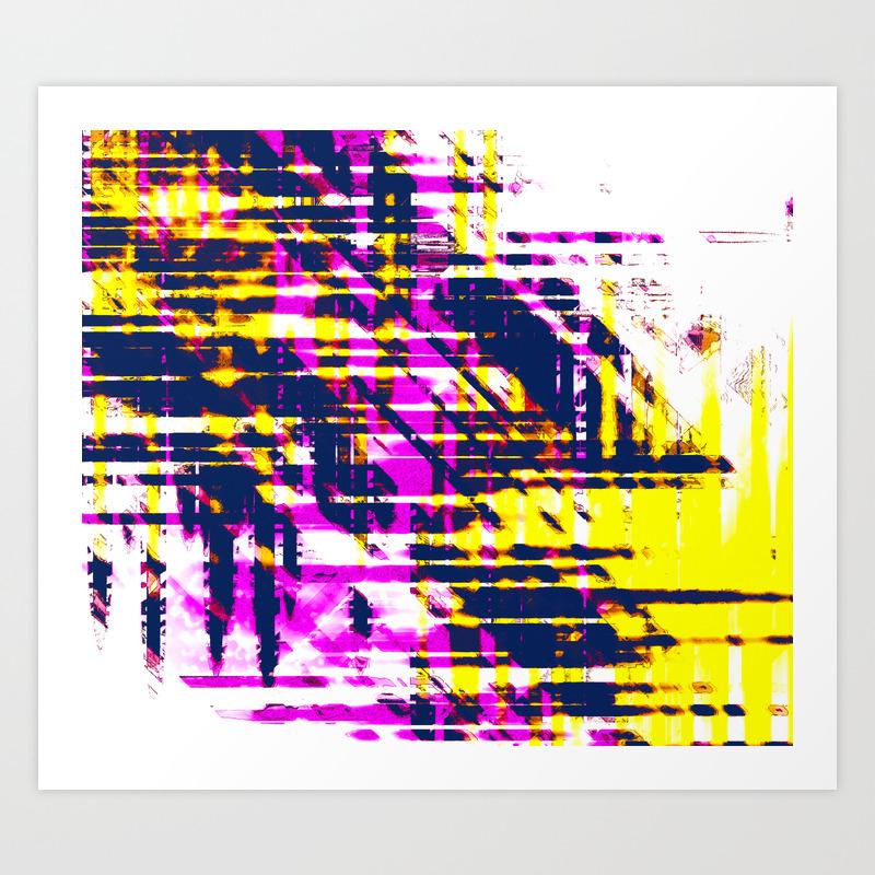 - Aesthetic Urban Abstract Visual Art Pop Art Colors Art Print By