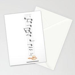 orange sol clef Stationery Cards