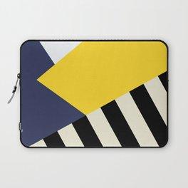 Bold Yellow Memphis Triangle Laptop Sleeve