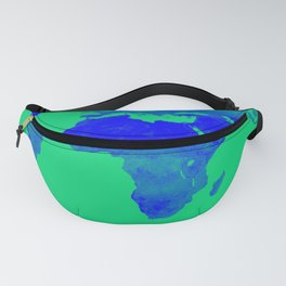World Map Green & Blue Fanny Pack