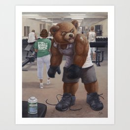 Bodybuilder Teddy Art Print