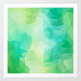 """Spring mood"" geometric design Art Print"