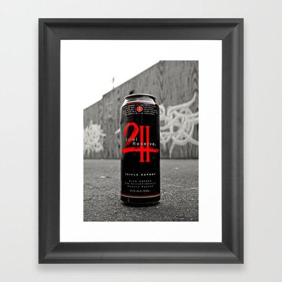 Urban malt liquor Framed Art Print