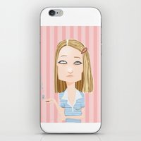 the royal tenenbaums iPhone & iPod Skins featuring Margot Tenenbaum The Royal Tenenbaums by suPmön