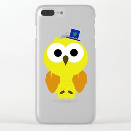 Oliver The Owl Clear iPhone Case