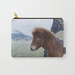 Brown Horse in Iceland Carry-All Pouch