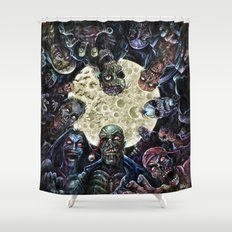 Zombies attack (zombie circle horde) Shower Curtain
