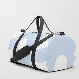 Large Baby Blue Retro Flowers White Background #decor #society6 #buyart Duffle Bag