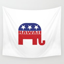 Hawaii Republican Elephant Wall Tapestry