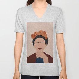 Frida Kahlo Art Unisex V-Neck