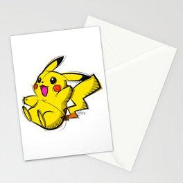 Pika Digital Drawing, Cartoon Art, PokemonArt, Nintendo Art Stationery Cards