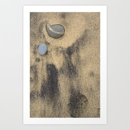 Abstract Sand Background Art Print