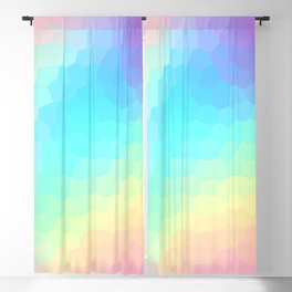 Pastel Rainbow Gradient With Stained Glass Effect Blackout Curtain