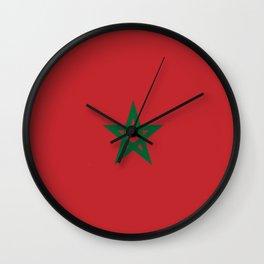 Flag of marocco Wall Clock
